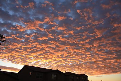 morning arizona sky sunrise fire tucson az marana