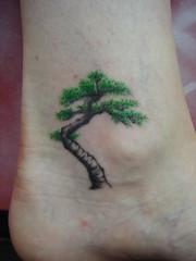 bonsai tree (Dejavu Tattoo Studio Chiangmai Thailand)