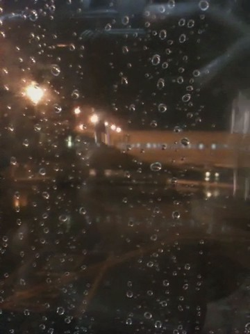 window rain airplane video airport
