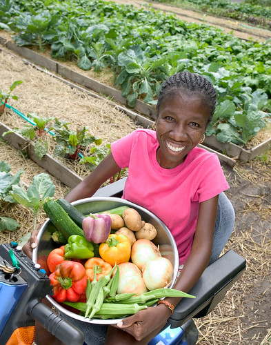 Woman farming by The Rehabilitation Institute of Kansas City