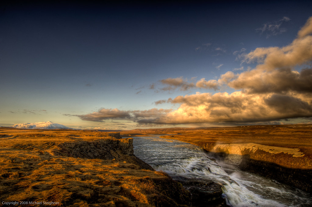 Top of the Gulfoss in Iceland by MDSimages.com