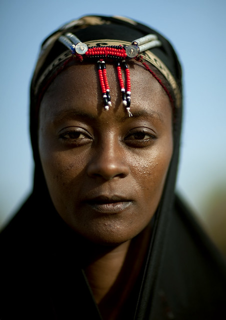 Gabbra woman with beads on the forehead - Kenya