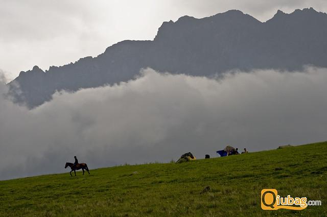Gruzińskie góry - panorama