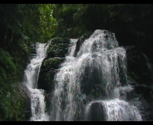 Sylvia Falls in flood with sound
