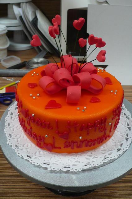 Red Ribbon Birthday Cake Flickr - Photo Sharing!