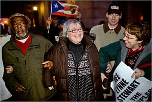 People's Attorney Lynne Stewart of New York City was taken into custody on November 19, 2009. Stewart was convicted of providing information to her client who was falsely accused of terrorism. by Pan-African News Wire File Photos