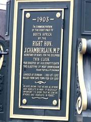 Photo of Joseph Chamberlain green plaque