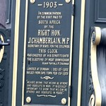 Joseph Chamberlain Memorial Clock - Jewellery Quarter, Birmingham - plaque