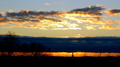 clouds sunrise pennsylvania steeple neshaminy bensalem
