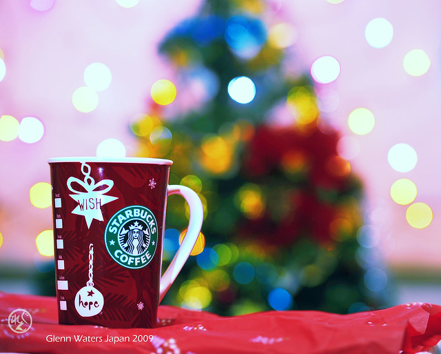 A Merry Starbucks Coffee Christmas my friends. © Glenn E Waters. Japan. Over 146,000 visits to this image. from Flickr via Wylio