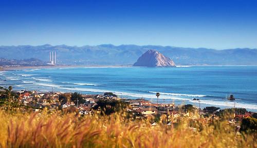 ocean california bay coast pacific morro