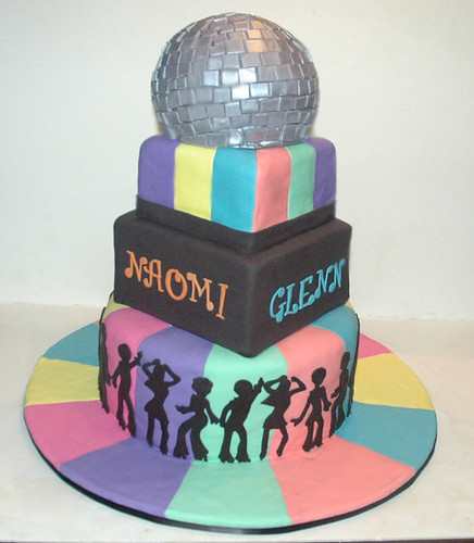 70s Disco Wedding Cake