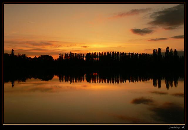 Coucher de soleil au lac d'Auron