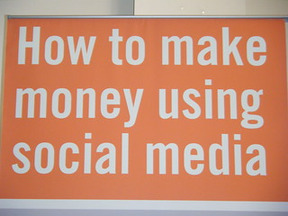 image of a plaque on How to make money using social media!