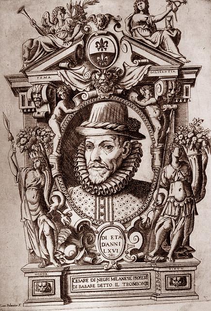 Portrait of Cesare Negri, Giovan Mauro Della Rovere (Fiammenghino), Milan, Braidense Library
