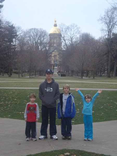 Notre Dame University- stopped there on the way home!