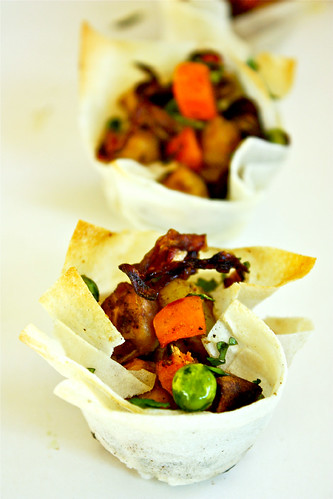 Bite sized Low Fat Non-Fried Samosa Cups - Perfect Appetizer by sreelus