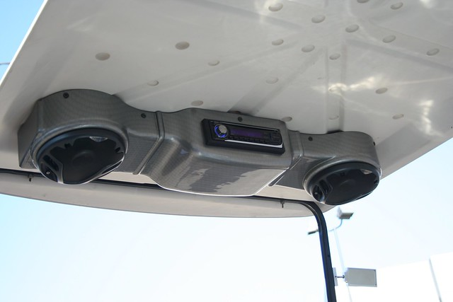Stereo for golf cart