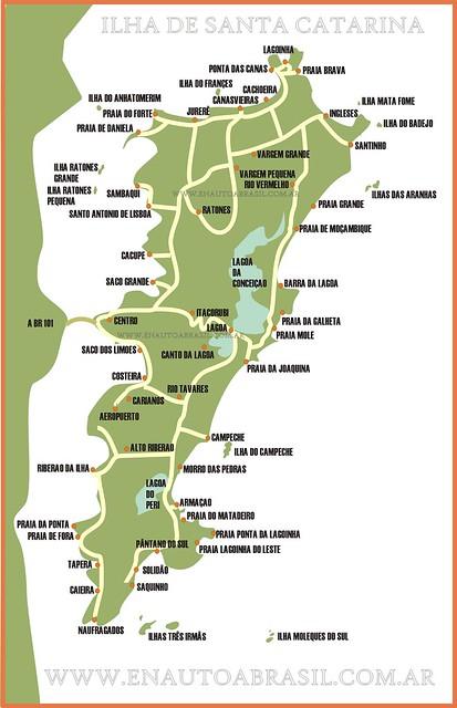 mapa isla santa catarina florianopolis