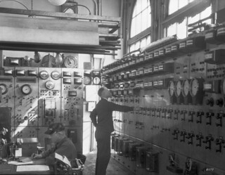 City Light substation switchboard, 1930