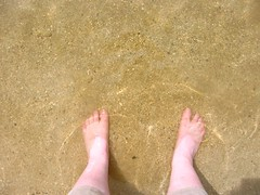My feet in the water at Agat Beach