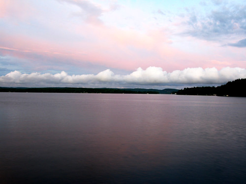 longexposure sunset clouds reflections muskoka peninsulalake