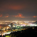 "The La Cañada Flintridge ""Station fire"" as viewed from Mulholland Drive in Los Angeles. Most of the brush has not burned in 60 years."