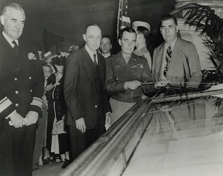 General Mcauliffe Unveiling the German Surrender Documents in the Rotunda of the National Archives, June 6, 1945