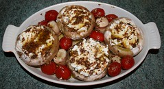 SHROOMS WITH GOAT CHEESE - READY TO COOK