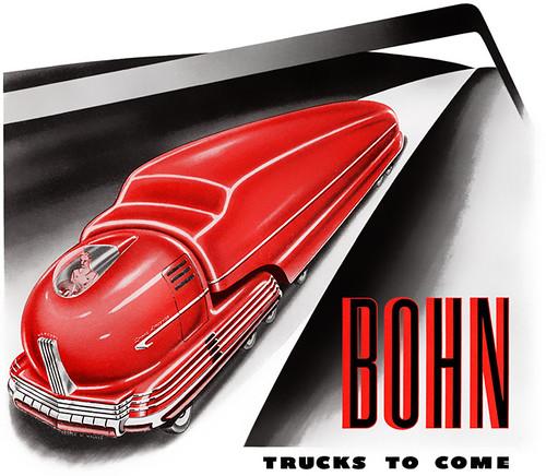 1943 ... red truck - by Radebaugh