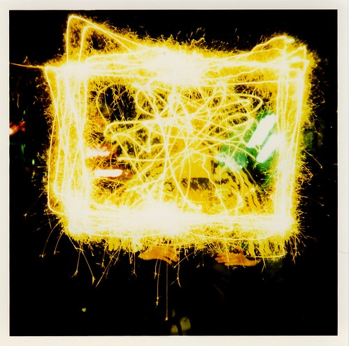 Pollack with Sparklers by Lomo-Cam