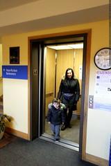 sequoia helped grandma neeta use the elevator in the…