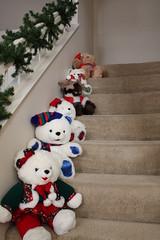christmas decoration(0.0), snowman(0.0), teddy bear(1.0), art(1.0), textile(1.0), white(1.0), red(1.0), plush(1.0), stuffed toy(1.0), christmas(1.0), toy(1.0),