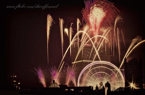 New year firework manchester