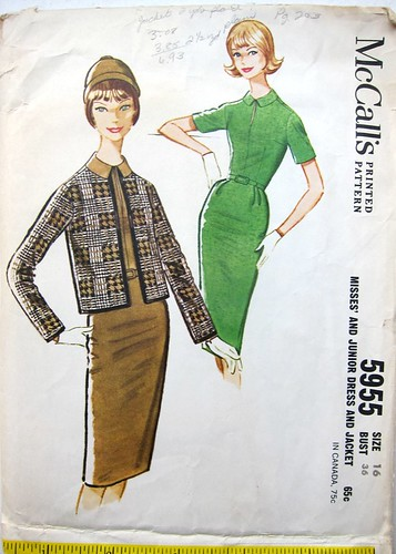 Vintage McCall's 5955 Slim keyhole dress