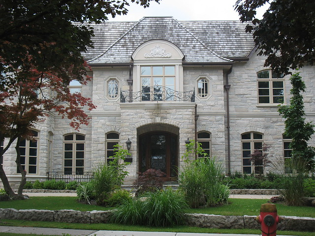 Indiana limestone house in toronto flickr photo sharing for Limestone homes designs