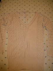 pattern(0.0), dress(0.0), t-shirt(0.0), lace(1.0), art(1.0), pattern(1.0), textile(1.0), clothing(1.0), sleeve(1.0), outerwear(1.0), knitting(1.0), beige(1.0), design(1.0), crochet(1.0), cardigan(1.0), sweater(1.0),