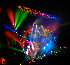 AC DC Concert Stage (Montreal) - Colorful Lights