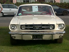 automobile, automotive exterior, vehicle, full-size car, first generation ford mustang, compact car, bumper, ford, classic car, land vehicle, luxury vehicle, muscle car,