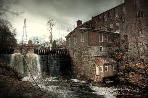 old november mill abandoned water photoshop canon landscape waterfall industrial factory moody cloudy newengland newhampshire hdr highdynamicrange grimy greenvillenh canonef1740f4l 40d patrickcampagnone chamberlainmill