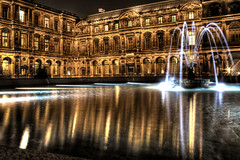 Louvre. Patio cuadrado. Square patio.