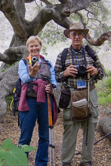 1 of 3 Liz Haslam and Jerry Kirkhart at Coon Creek Hike 12Nov2009