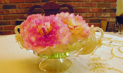 Japanese peonies on a dining table