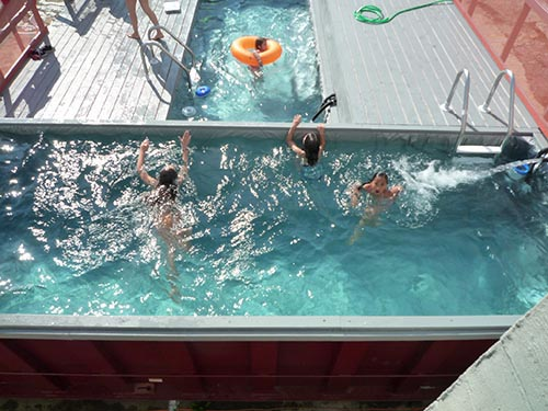 Shipping Container Pool House 500 x 375