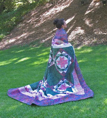Ohio Star Batik Quilt