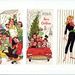 Free vintage 50's-60's Christmas card covers 1 by The Solitary Raven