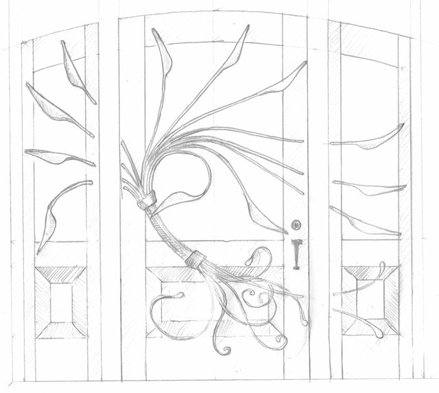Art nouveau style concept sketch for front door flickr photo sharing - Several artistic concepts for main door ...