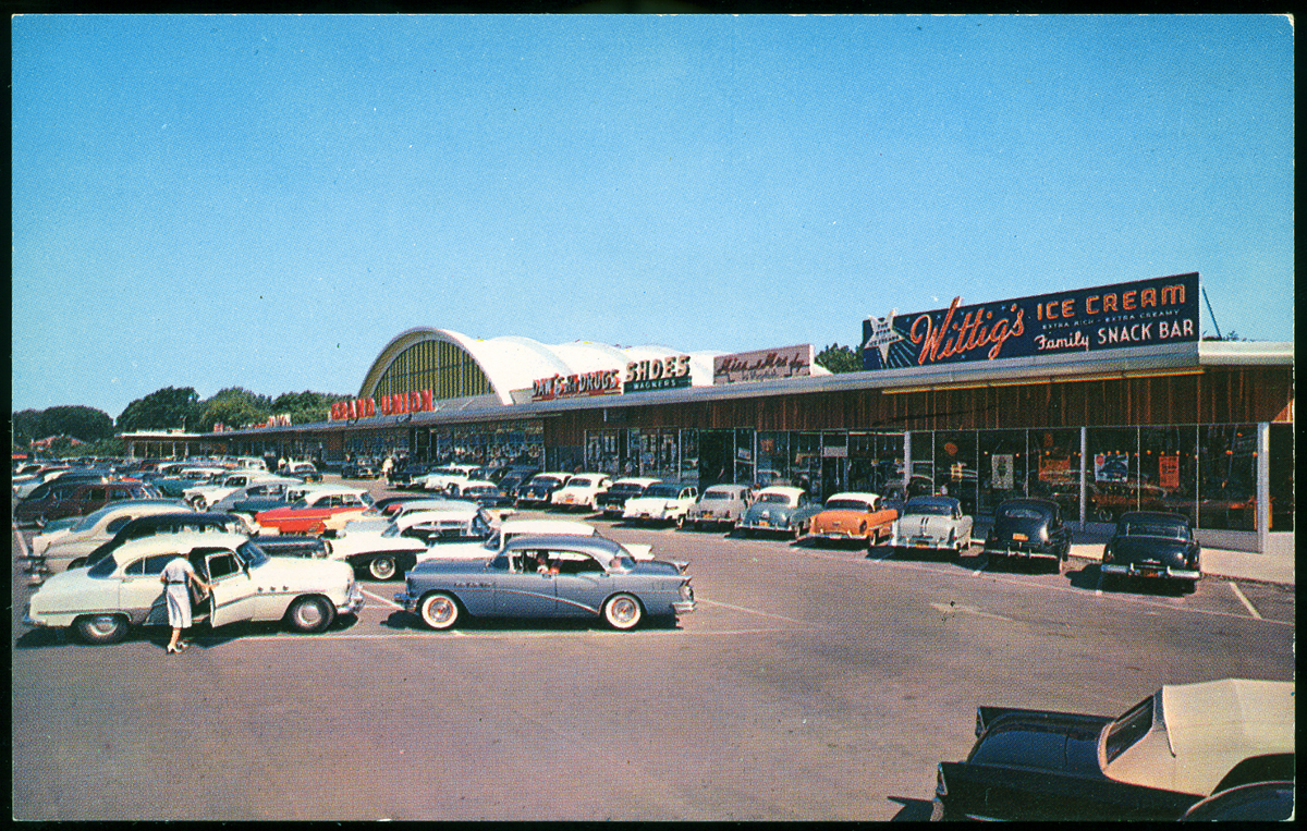 Grand Union Shopping Plaza, 1950's - a photo on Flickriver