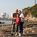 Family with power station, Lamma, Hong Kong