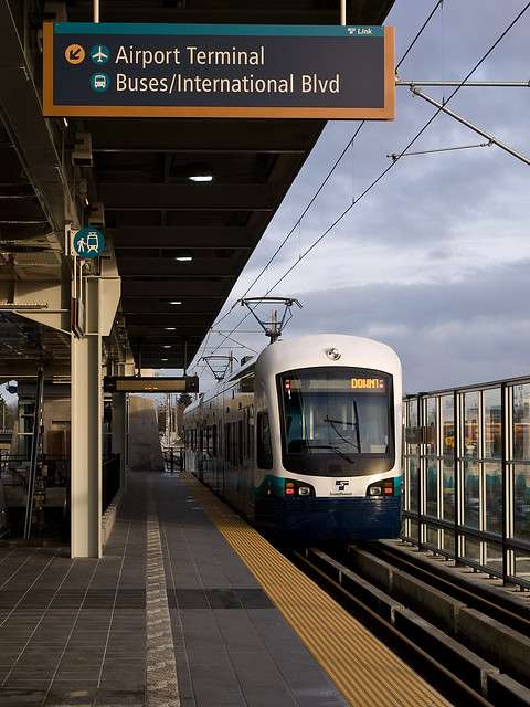 SeaTac Airport Light Rail LInk Flickr Photo Sharing